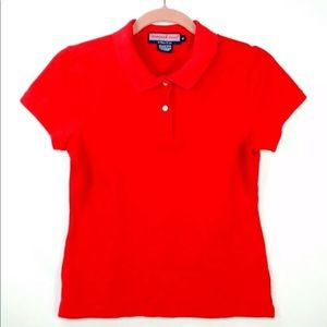 Vineyard Vines Susie Fit Polo Red Shirt Top